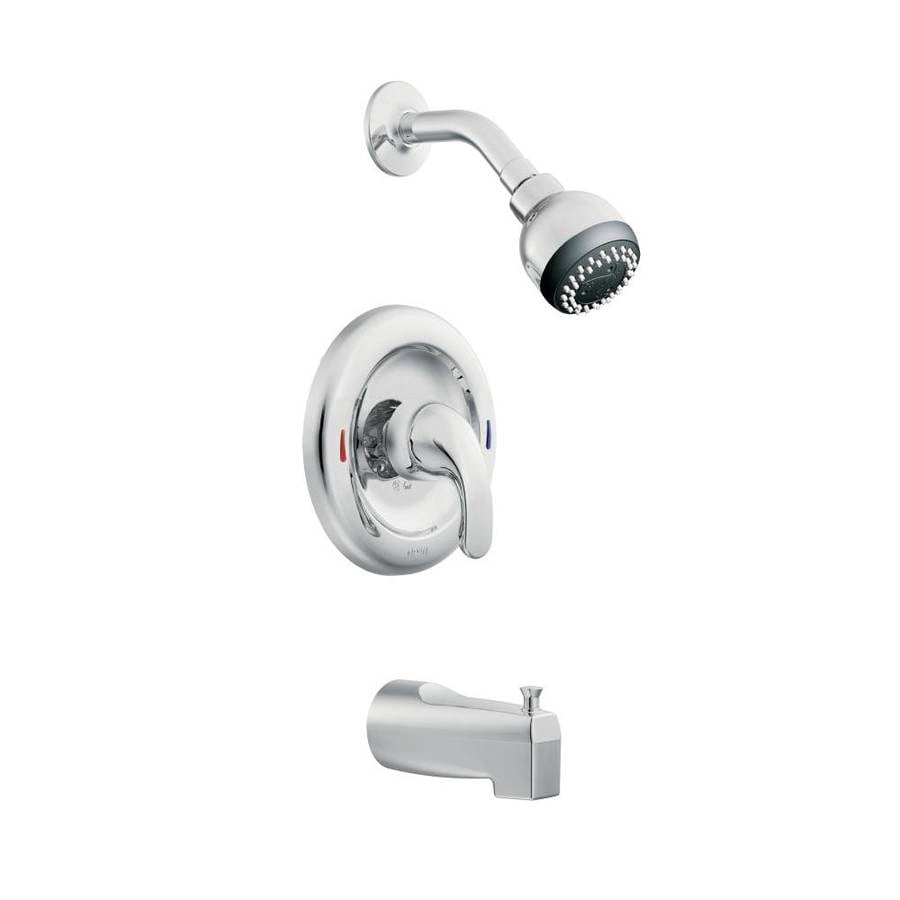 Shop moen adler chrome 1 handle watersense bathtub and shower faucet with multi function - Moen shower faucet ...