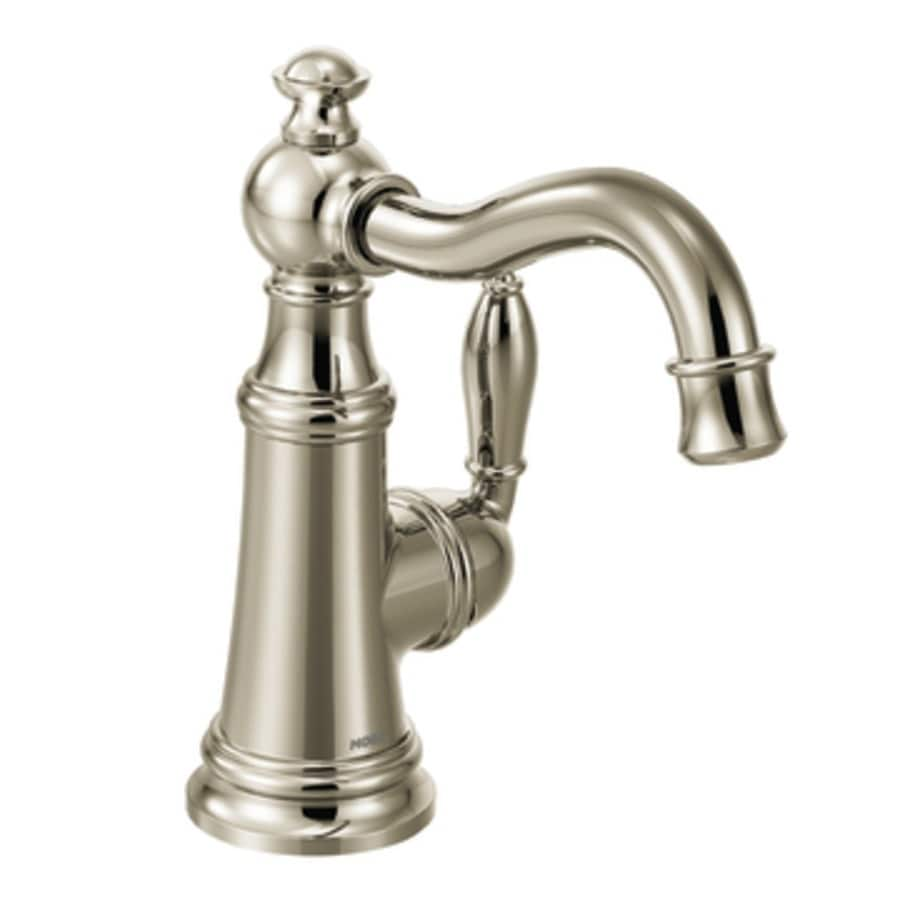 Moen Weymouth Nickel 1-Handle Bar and Prep Faucet