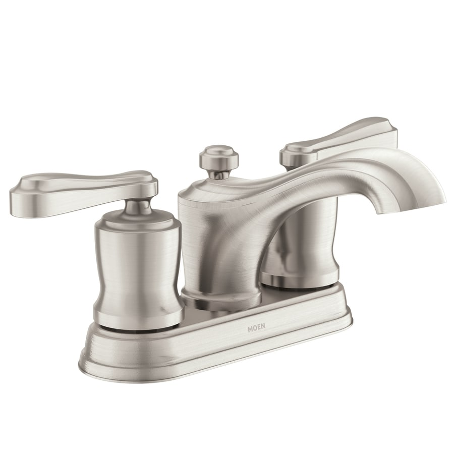 Shop Moen Belhurst Spot Resist Brushed Nickel 2 Handle 4 In Centerset Watersense Bathroom Sink