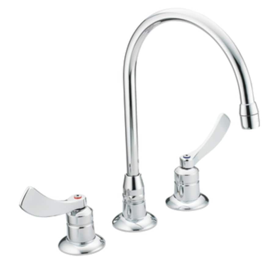 Moen M-dura Chrome 2-Handle Widespread Commercial Bathroom Faucet