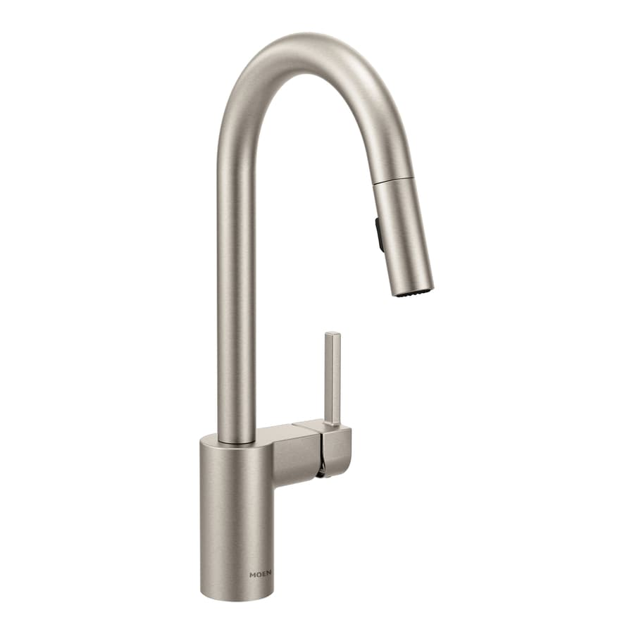 Shop Moen Align Spot Resist Stainless 1 Handle Deck Mount Pull Down Power Clean Kitchen Faucet