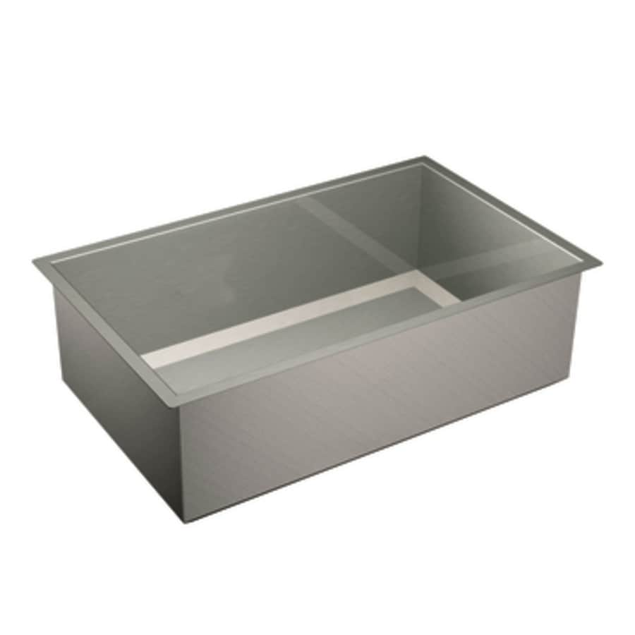 Moen 1600 Series 20-in x 32-in Single-Basin Stainless Steel Undermount Residential Kitchen Sink