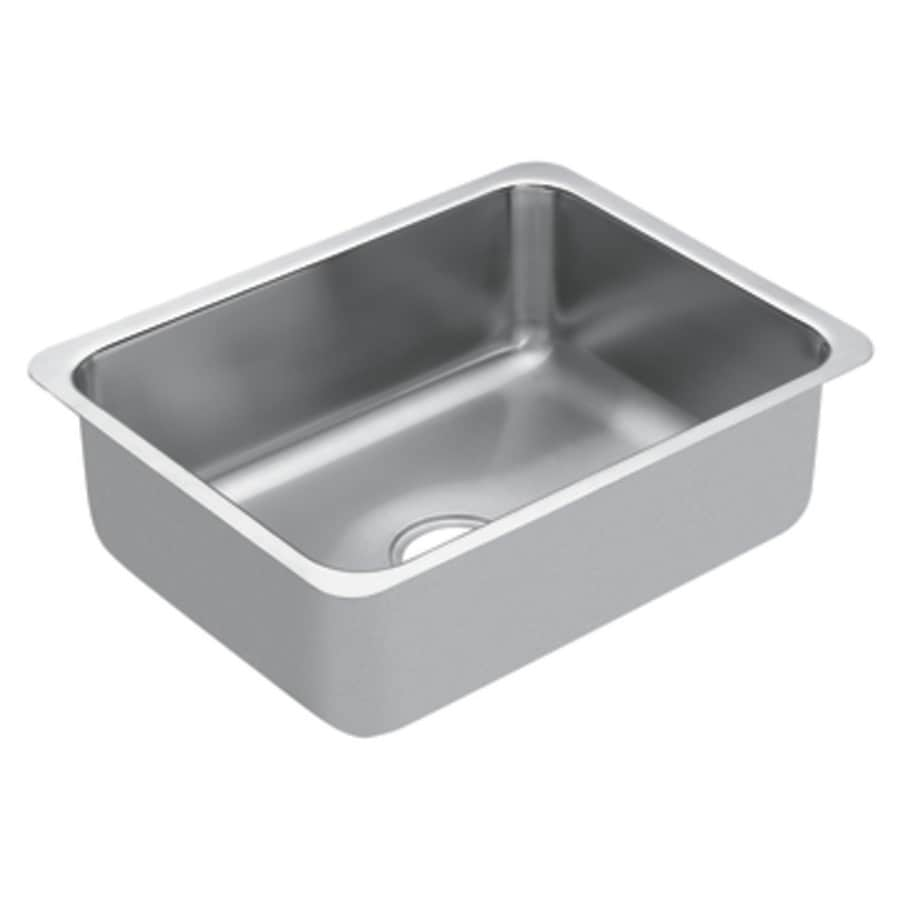 Moen 1800 Series 23-in x 18-in Single-Basin Stainless Steel Undermount Residential Kitchen Sink