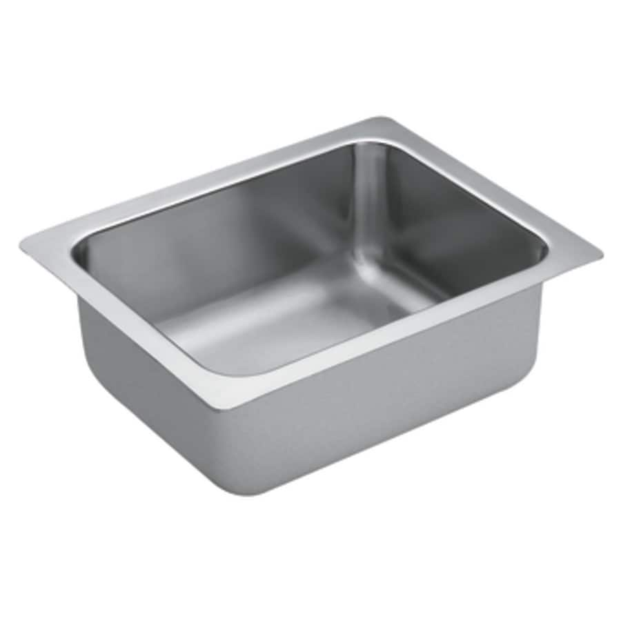 Shop Moen 1800 Series Stainless Steel Undermount Residential Prep Sink ...
