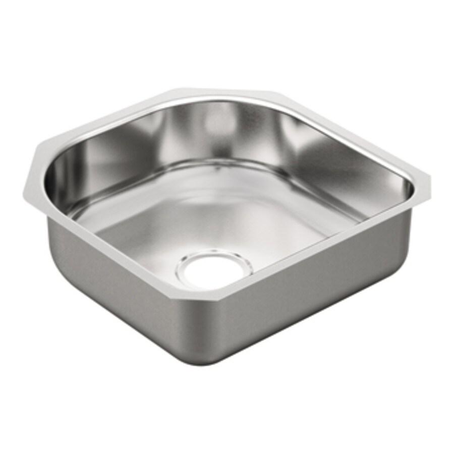 Moen 2000 Series 20-in x 20-in Single-Basin Stainless Steel Undermount Residential Kitchen Sink