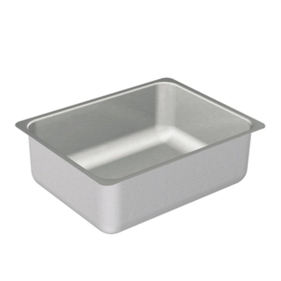 Moen 2000 Series 23-in x 18-in Stainless Steel Single-Basin Undermount Residential Kitchen Sink