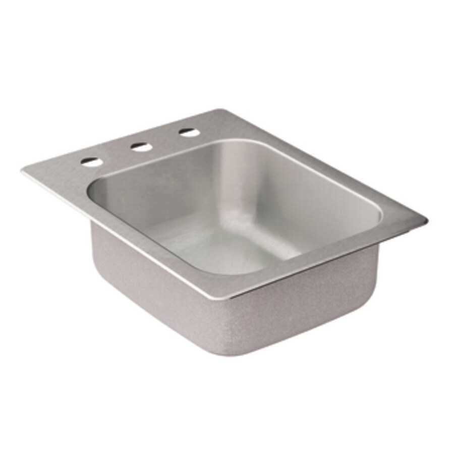 Moen 2000 Series Stainless Steel 1 (Customizable)-Hole Stainless Steel Drop-in Residential Prep Sink