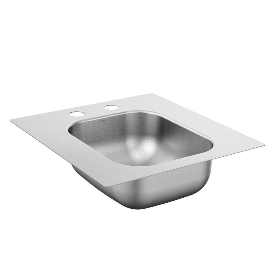 Moen 2000 Series Stainless Steel 1 (Customizable)-Hole Stainless Steel Drop-in Residential Prep Sink