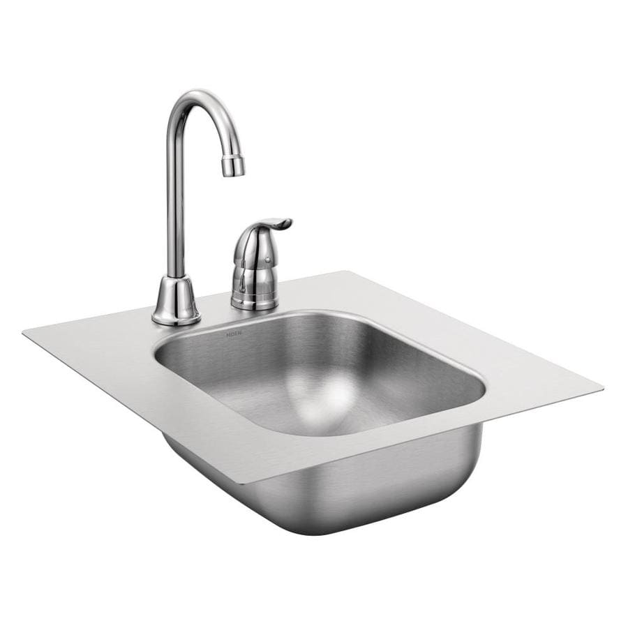 Moen 2000 Series Stainless Steel Stainless Steel Drop In Residential Bar  Sink