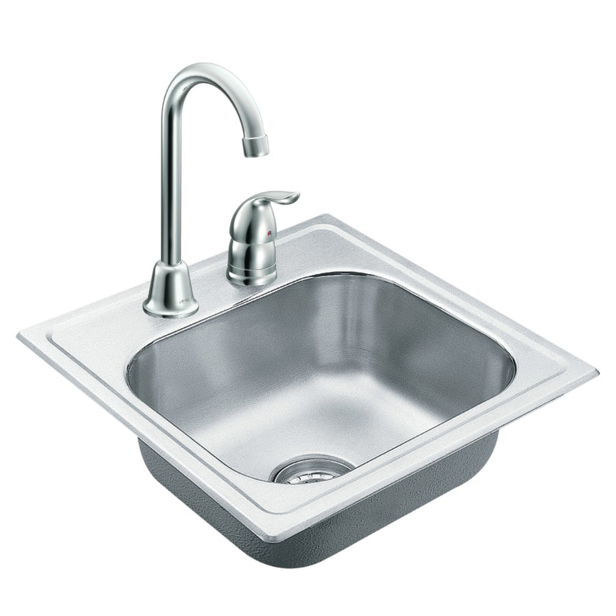 Moen 2200 Series Stainless Steel Stainless Steel Drop In Residential Bar  Sink