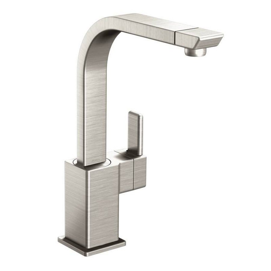 Moen 90 Degree Spot Resist Stainless 1-Handle Deck Mount High-Arc Kitchen Faucet