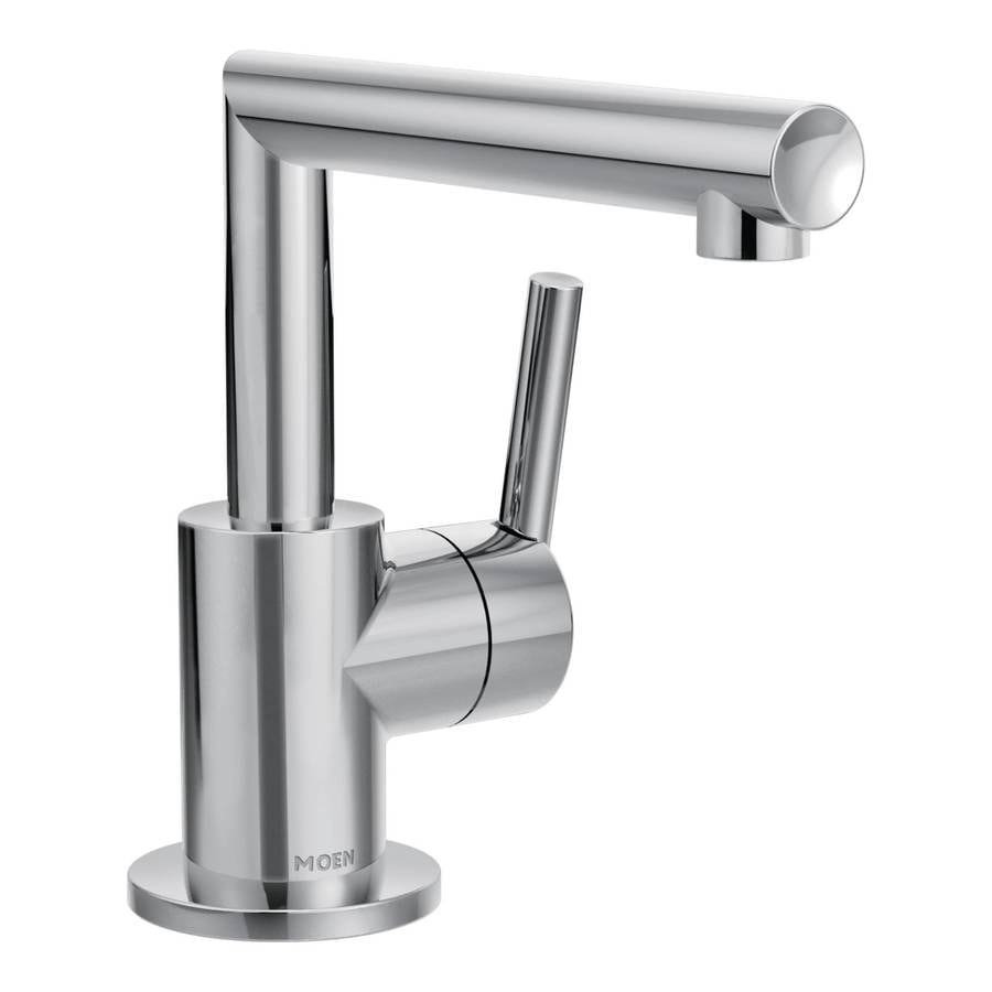Shop Moen Arris Chrome 1 Handle Single Hole Bathroom Sink Faucet At