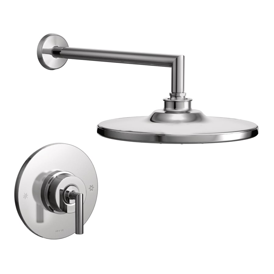 Moen Arris Chrome 1-Handle WaterSense Shower Faucet Trim Kit with Rain Showerhead
