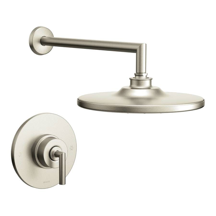 Moen Arris Brushed Nickel 1-Handle WaterSense Shower Faucet with Rain Showerhead