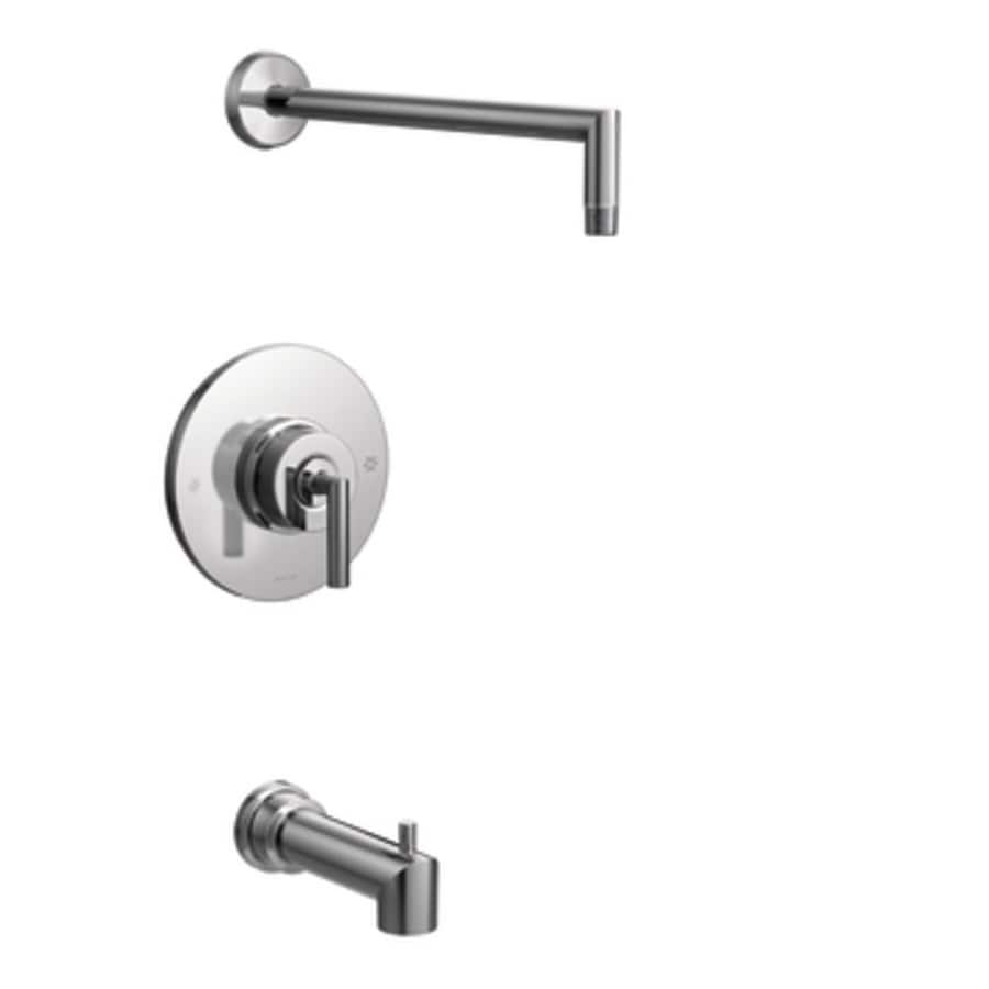 Moen Arris Chrome 1-Handle Handle(S) Included Tub and Shower with Sold Separately Showerhead