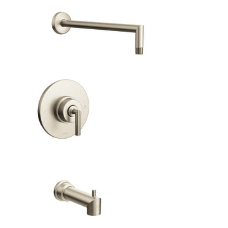 Moen Arris Brushed Nickel 1-Handle Bathtub and Shower Faucet