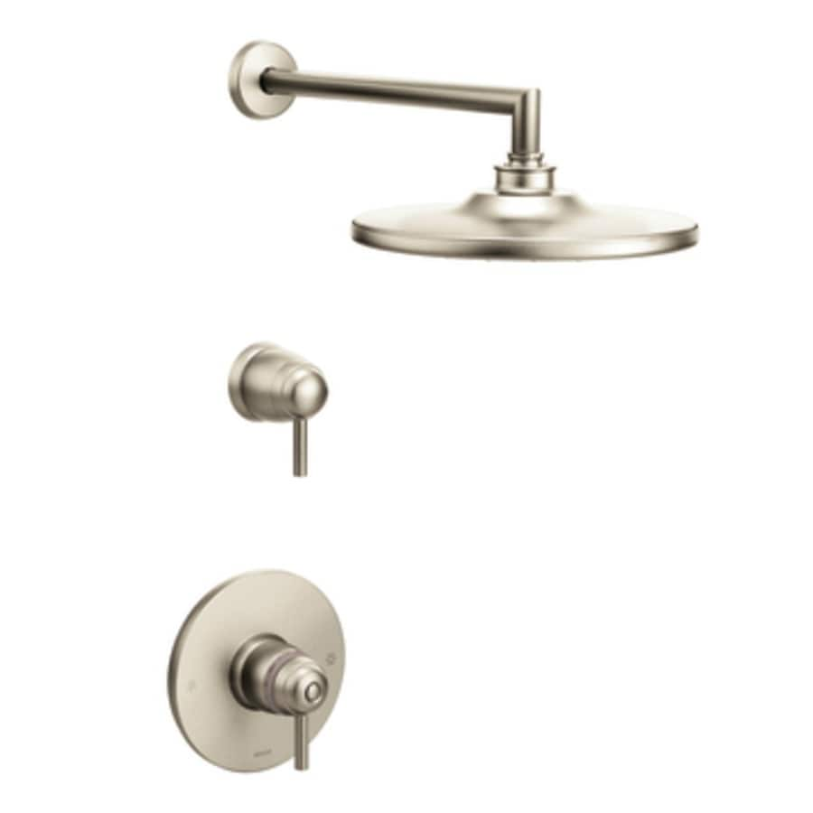 Moen Arris Brushed Nickel 1-Handle Shower Faucet with Rain Showerhead