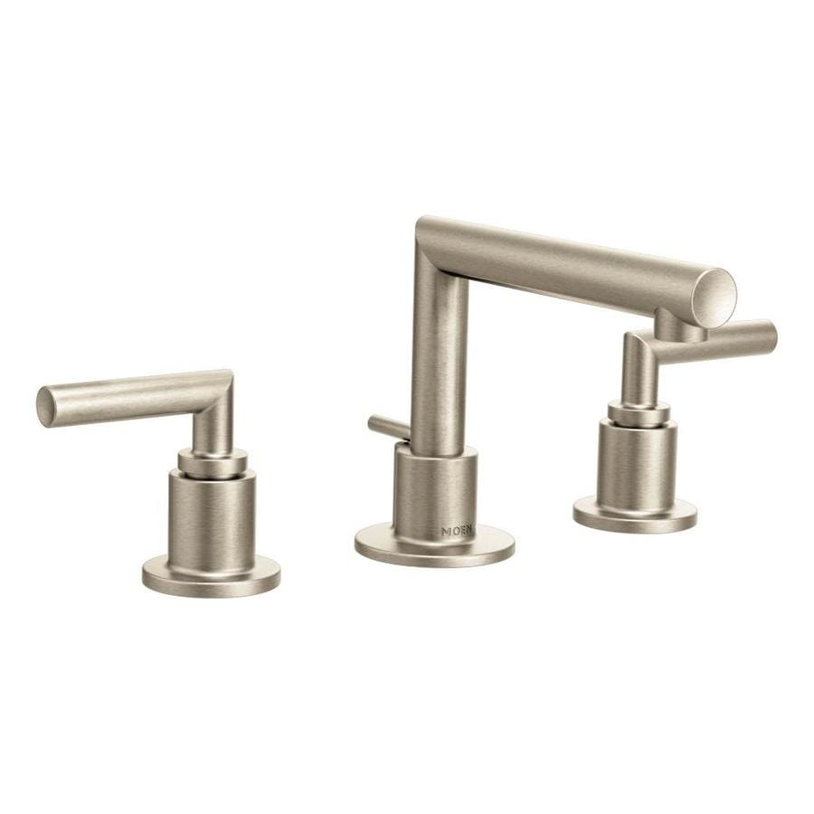 Moen Arris Brushed Nickel 2-Handle Widespread WaterSense Bathroom Faucet