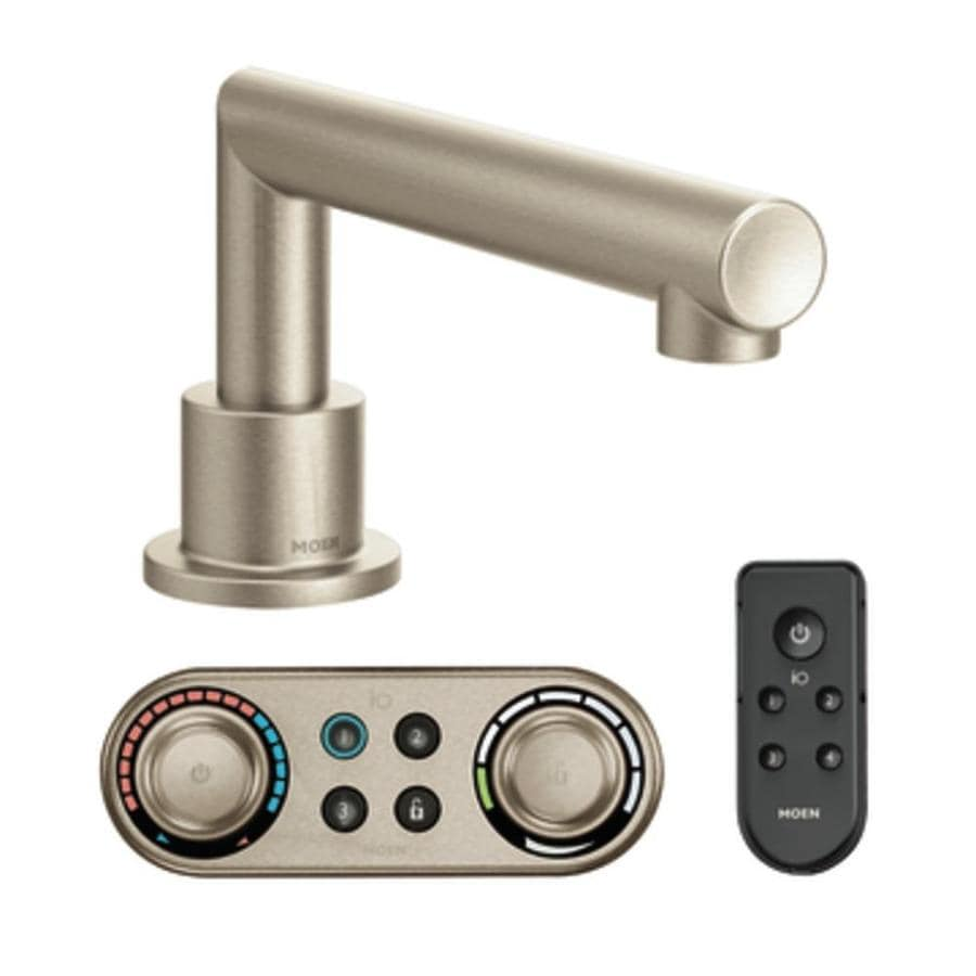 Moen Arris Brushed Nickel Touchless Adjustable Deck Mount Bathtub Faucet