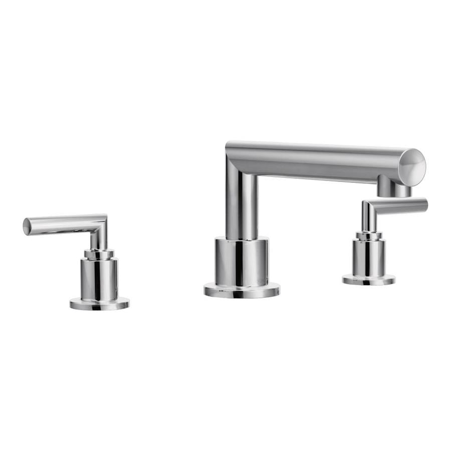Moen Arris Chrome 2-Handle Adjustable Deck Mount Tub Faucet