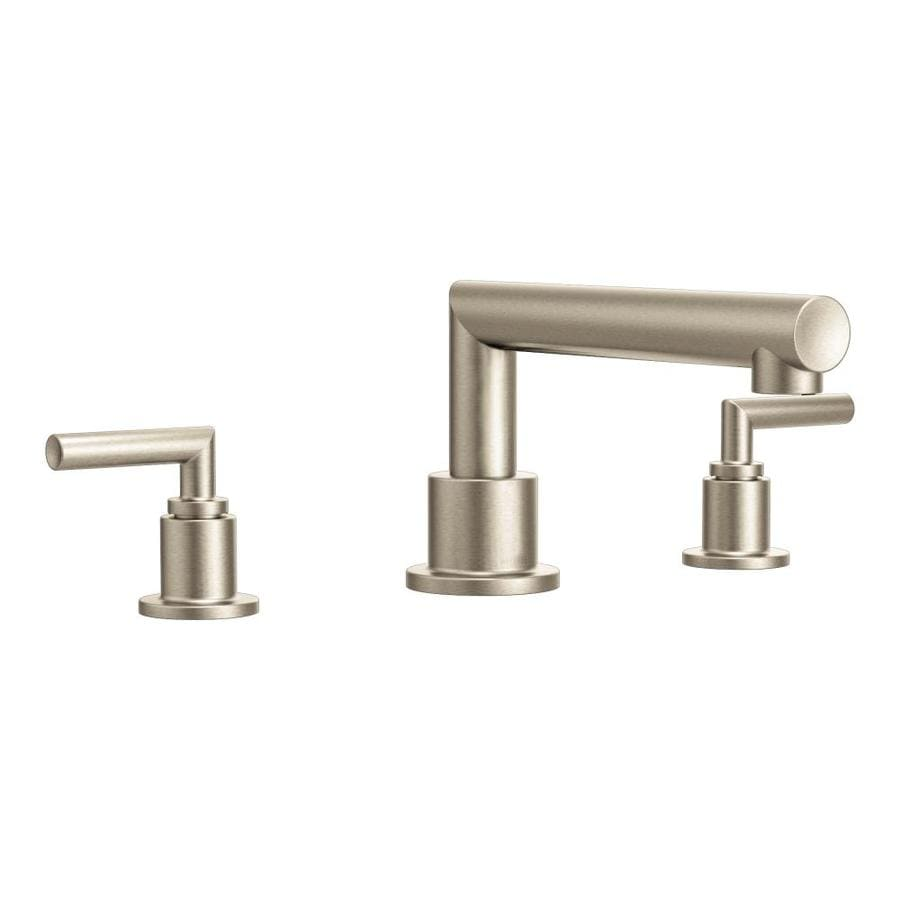 Moen Arris Brushed Nickel 2-Handle Adjustable Deck Mount Tub Faucet