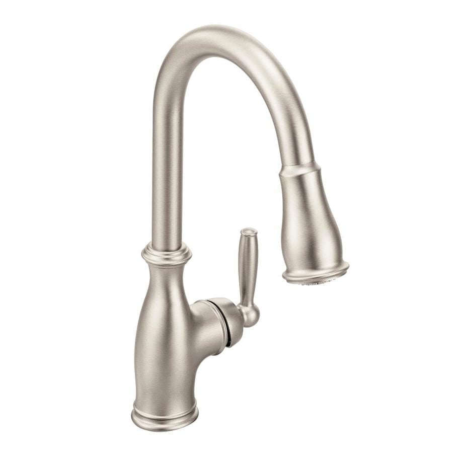 Moen Brantford Spot Resist Stainless 1-Handle Handle(S) Included Pull-Down Sink/Counter Mount Traditional Kitchen Faucet