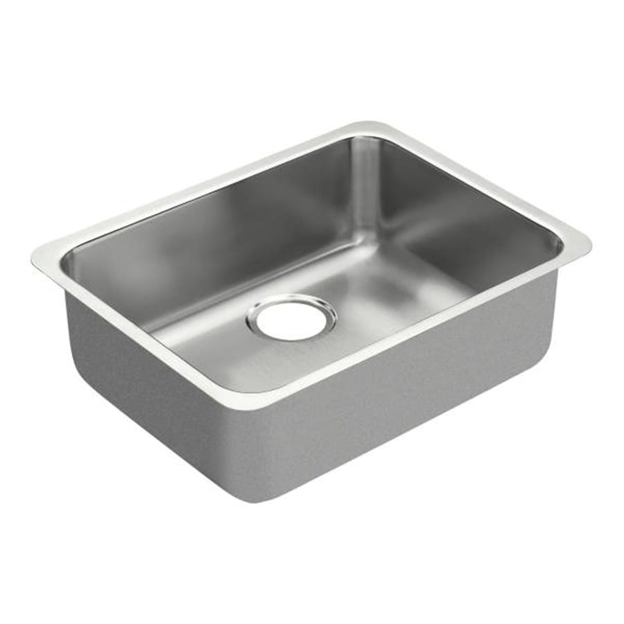 Moen 1800 Series 23-in x 18-in Stainless Steel Single-Basin-Basin Stainless Steel Undermount (Customizable)-Hole Commercial Kitchen Sink