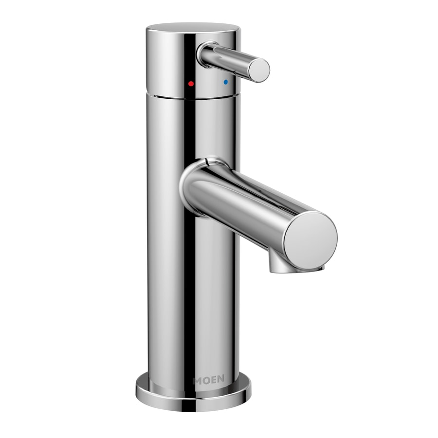 Shop moen align chrome 1 handle single hole 4 in centerset bathroom sink faucet at - Moen shower faucet ...