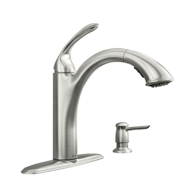 Kinzel Spot Resist Stainless 1 Handle Pull Out Kitchen Faucet