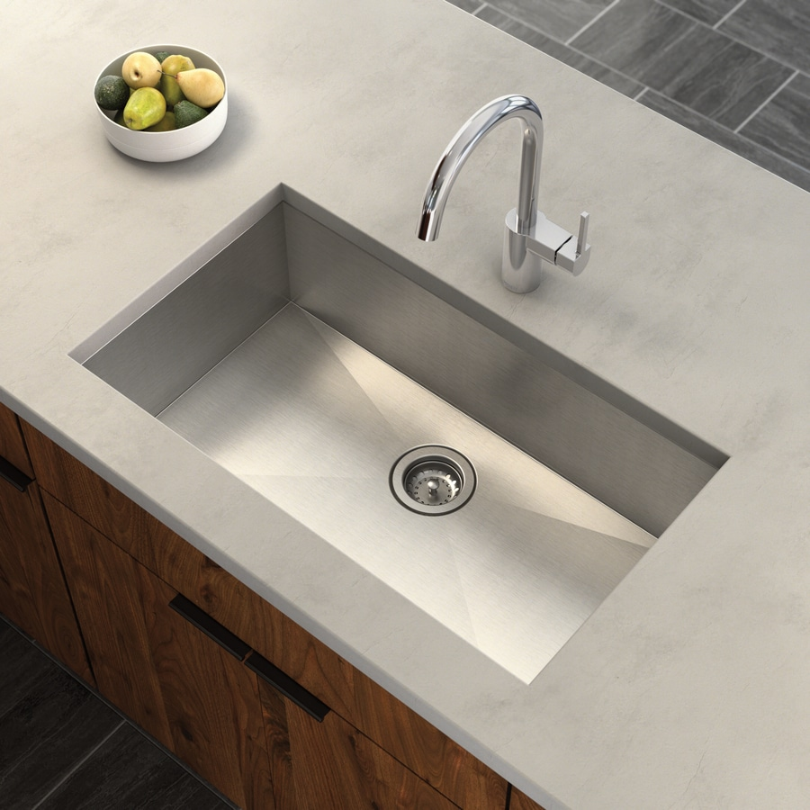 Moen 1800 Series 18-in x 31.25-in Stainless Steel Single-Basin Undermount Residential Kitchen Sink