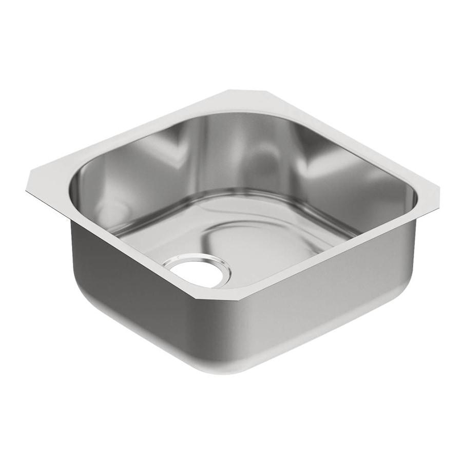 Moen 1800 Series 20-in x 20-in Single-Basin Stainless Steel Undermount Residential Kitchen Sink
