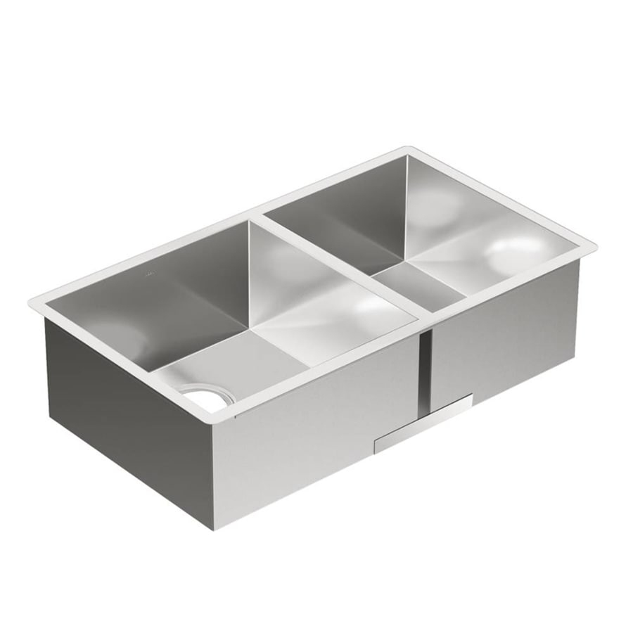 Moen 1800 Series 17.5-in x 31.5-in Stainless Steel Single-Basin-Basin Stainless Steel Undermount (Customizable)-Hole Residential Kitchen Sink