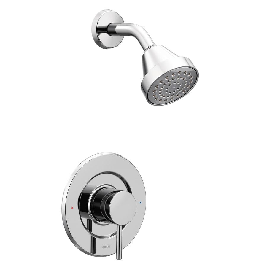 Moen Align Chrome 1-Handle WaterSense Shower Faucet Trim Kit with Single Function Showerhead