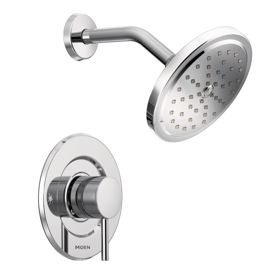 shop moen align chrome 1 handle shower faucet at lowes com