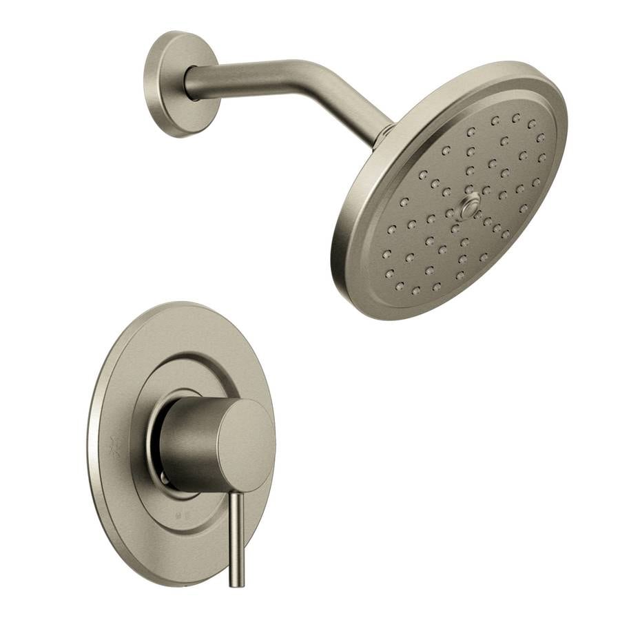 Shop Moen Align Brushed Nickel 1 Handle Shower Faucet Trim Kit With Single Function Showerhead