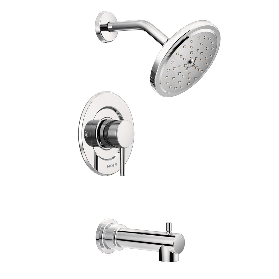 Moen Align Chrome 1 Handle Bathtub And Shower Faucet Trim Kit With Single  Function Showerhead