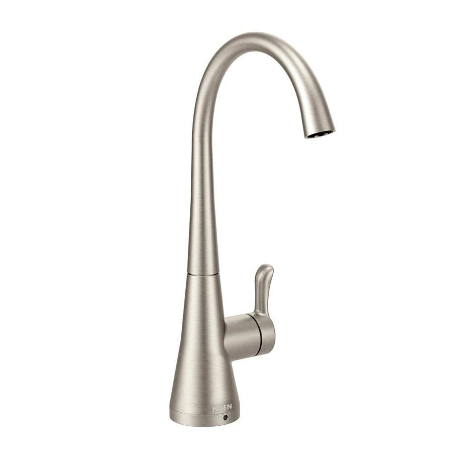 Moen Sip Transitional Spot Resist Stainless 1 Handle Deck