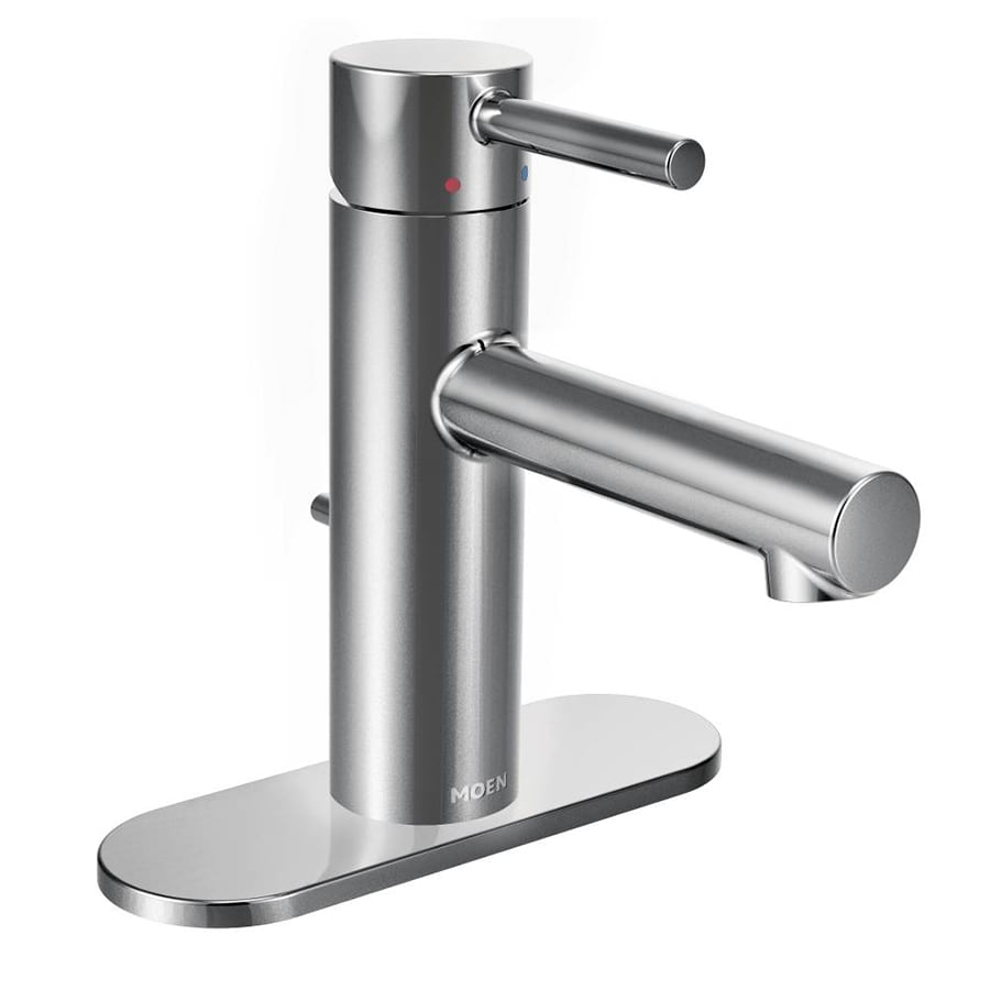 Moen Align Chrome 1-Handle Single Hole WaterSense Bathroom Faucet (Drain Included)