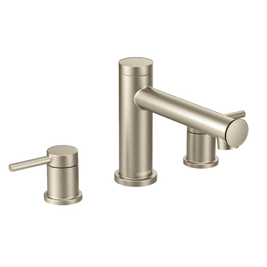 Moen Align Brushed Nickel 2-Handle Bathtub and Shower Faucet Trim Kit with Sold Separately Showerhead
