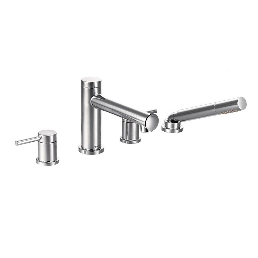 Moen Align Chrome 2-Handle Bathtub and Shower Faucet Trim Kit with Sold Separately Showerhead