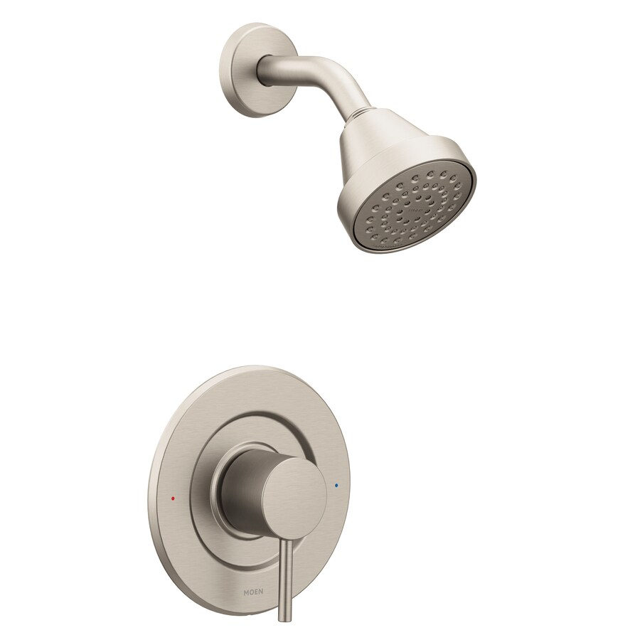 Moen Align Brushed Nickel 1-Handle Shower Faucet Trim Kit with Single Function Showerhead
