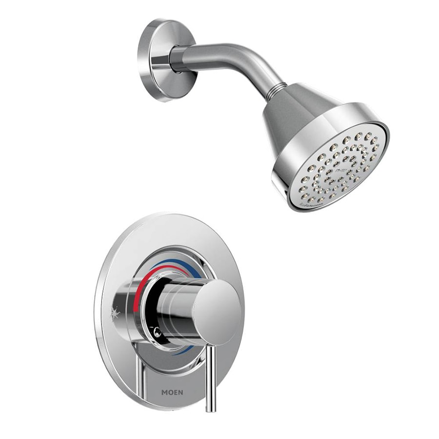 Moen Align Chrome 1-Handle Shower Faucet Trim Kit with Single Function Showerhead