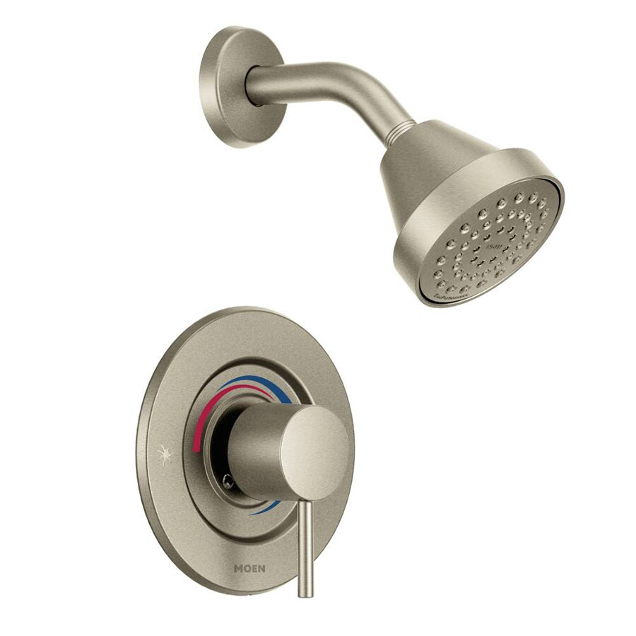Moen Align Brushed Nickel 1-Handle Shower Faucet with Single Function Showerhead