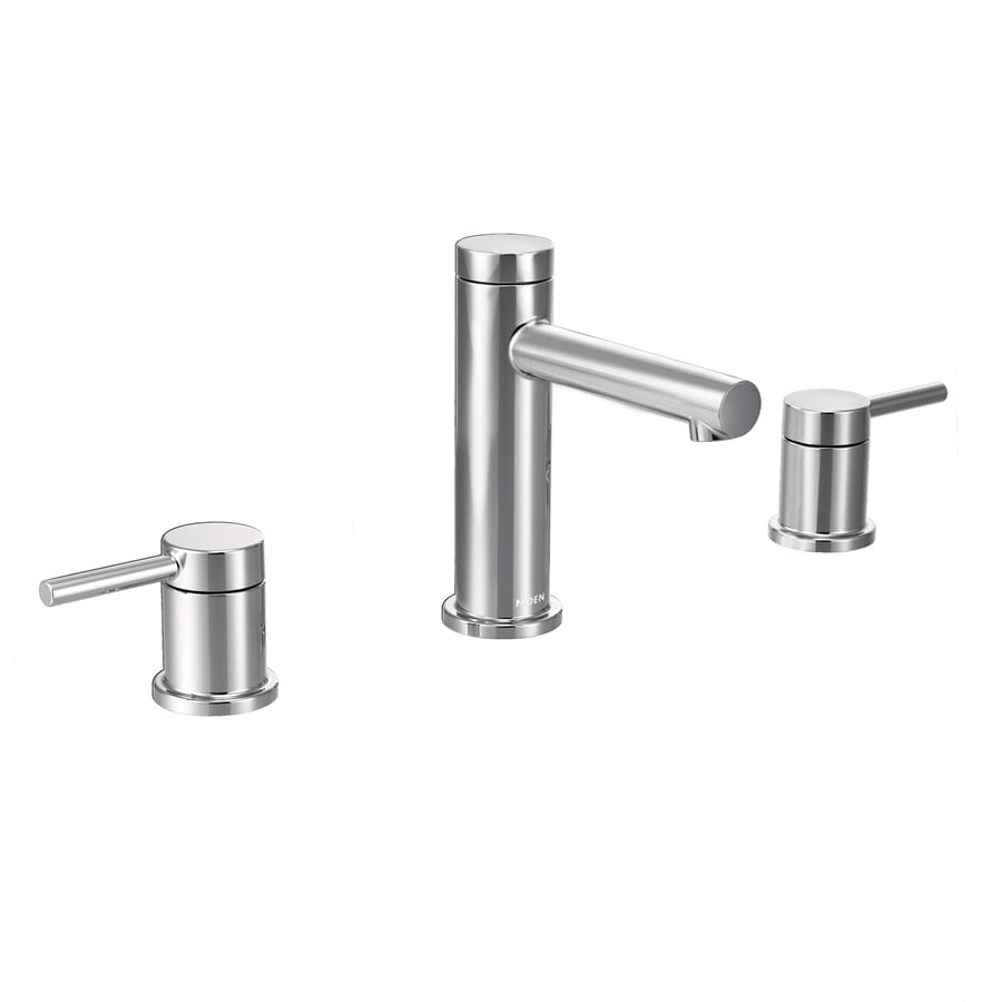 Shop Moen Align Chrome 2 Handle Widespread Bathroom Sink Faucet At