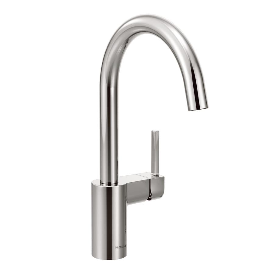 Moen Align Chrome 1-Handle Deck Mount High-Arc Kitchen Faucet