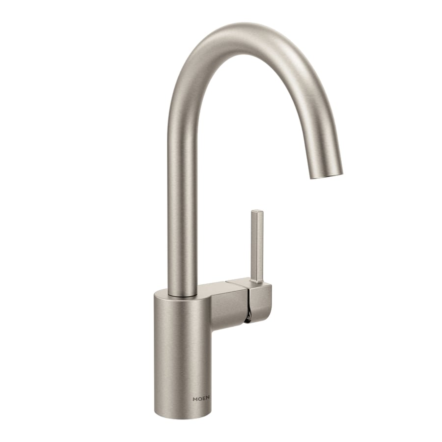 Moen Align Spot Resist Stainless 1-Handle Deck Mount High-Arc Kitchen Faucet