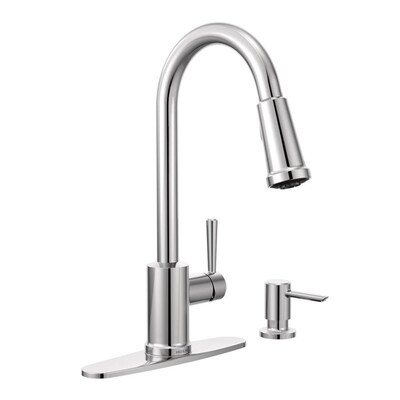 Indi Chrome 1-Handle Deck Mount Pull-down Commercial/Residential Kitchen  Faucet