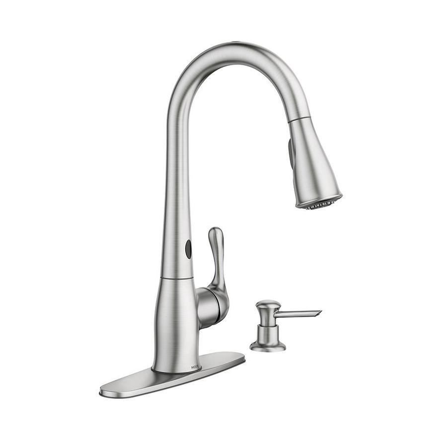 Moen Motionsense Kitchen Faucet: Moen Ridgedale Spot Resist Stainless 1-Handle High-arc