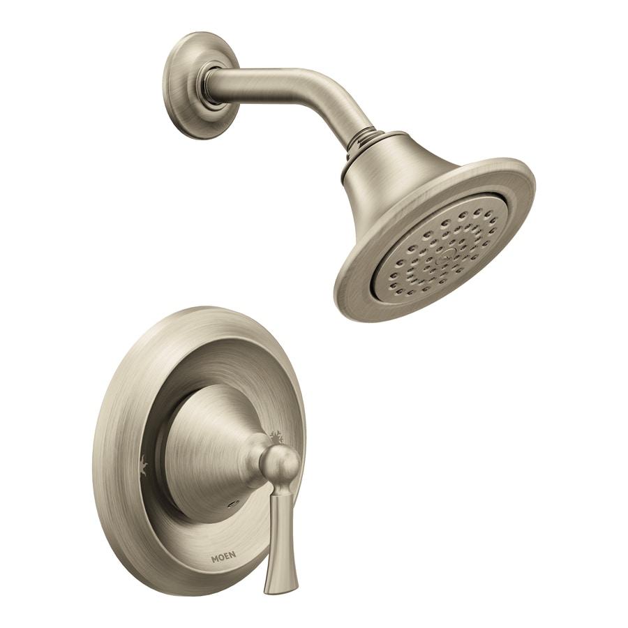 Moen Wynford Brushed Nickel 1-Handle WaterSense Shower Faucet with Single Function Showerhead