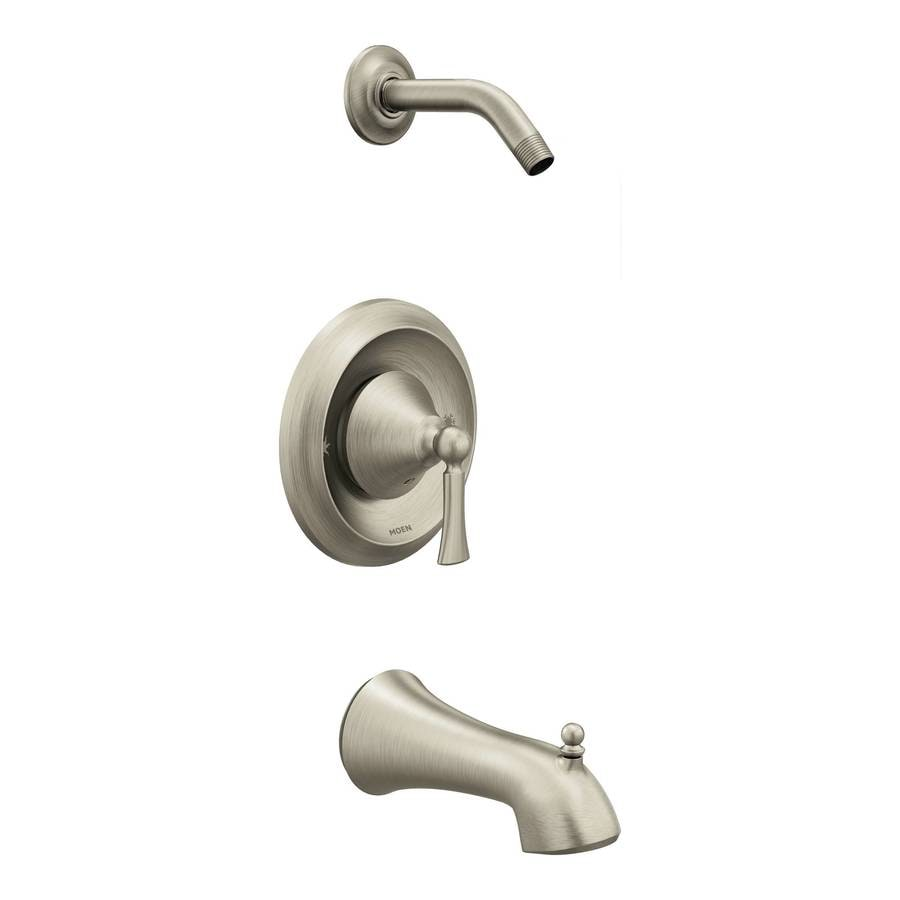 Moen Wynford Brushed Nickel 1-Handle Bathtub and Shower Faucet